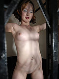 Sexy vintage glam girl gets love in an elevator