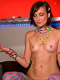 Hot raver girl with a great body ready to party