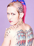 Punk rebel Jax shows off her amazing tattoos