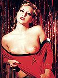 Star Trek red shirt babe getting naked