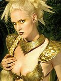 Golden Amazon Queen Victoria Blue