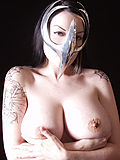 Gothic babe with big beautiful tits in movie Cell mask