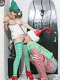 Aiden Starr and Michelle Aston Santa elves get down