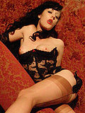 Vintage gothic style smoking fetish queen